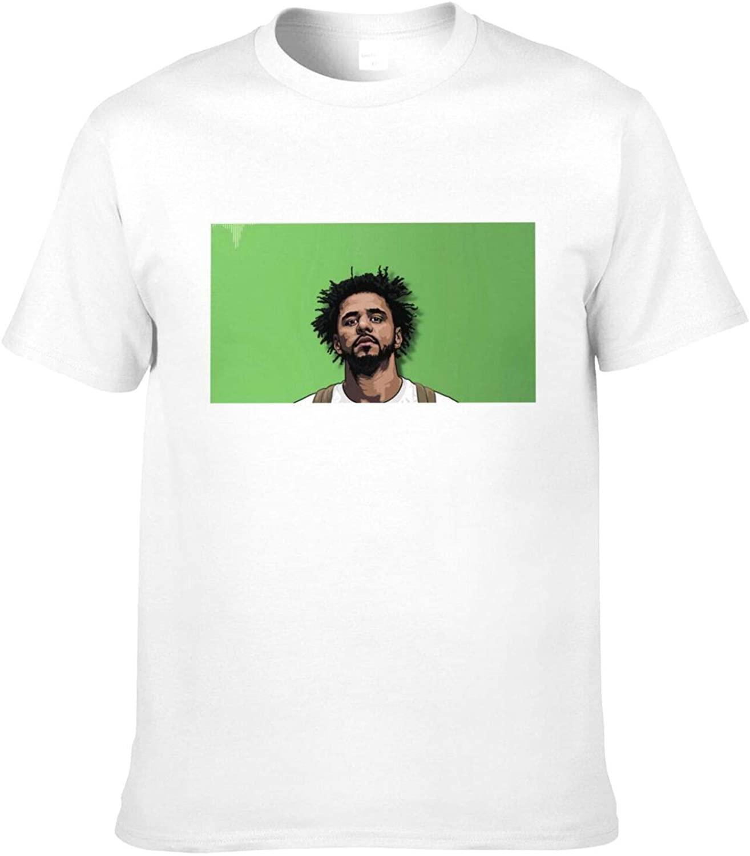 Classic Evolution of J Cole Design J Cole Men's T-Shirt Cotton Short Sleeve Tee Black