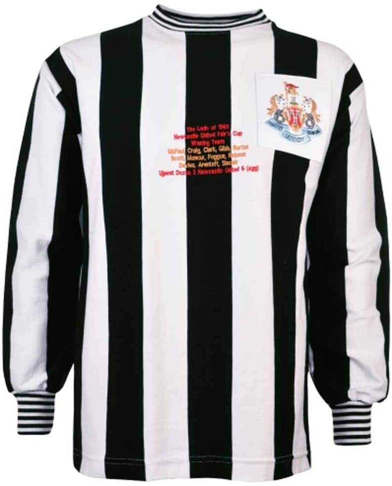 Newcastle United Fairs Cup 40th Anniversary Retro Football Soccer T-Shirt Jersey