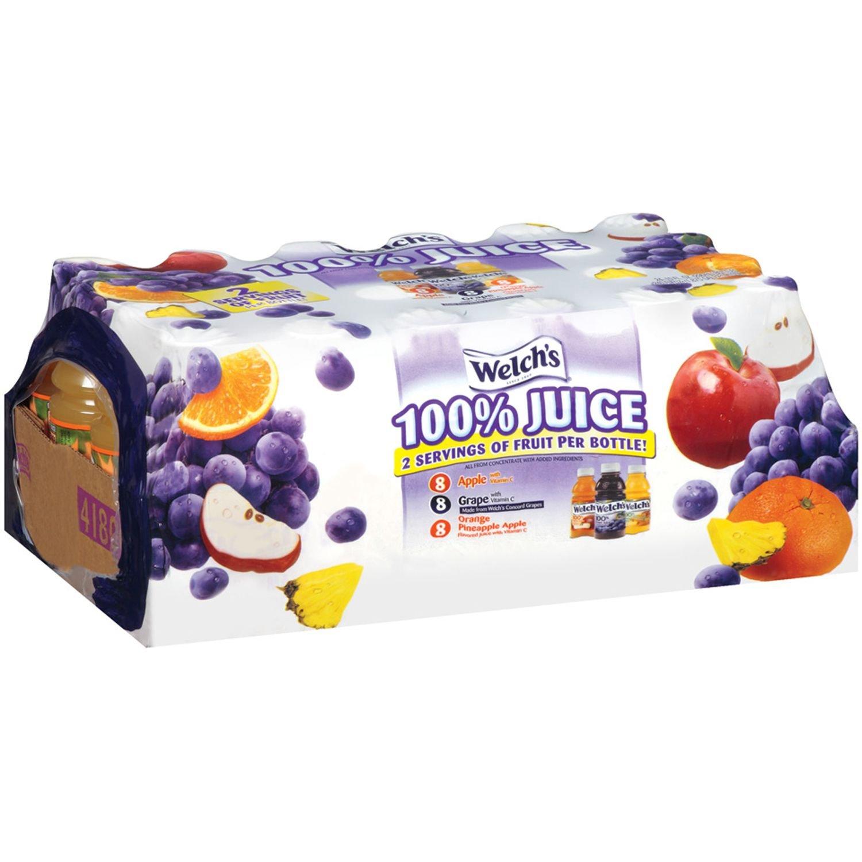Welch's 100% Juice Variety Pack - 10 oz. bottles - 24 ct.