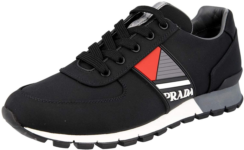 Prada Men's 4E3198 OQ6 F0002 Nylon Sneaker