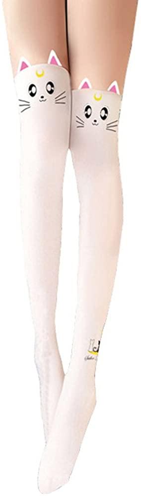 Girls Tights Socks Anime Sailor Moon Messenger Luna for Women Hosiery Pantyhose