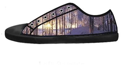Daniel Turnai Fan Custom Men's Fashion DIY Image Tree Winter Snow New Sneaker Canvas Shoes