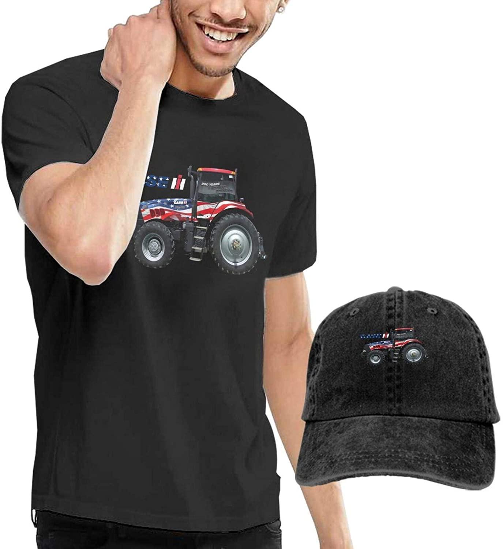Fashion Case Ih International Harvester Mens Outdoor Casual Short Sleeve Tshirt Give Cowboy Hat Tee