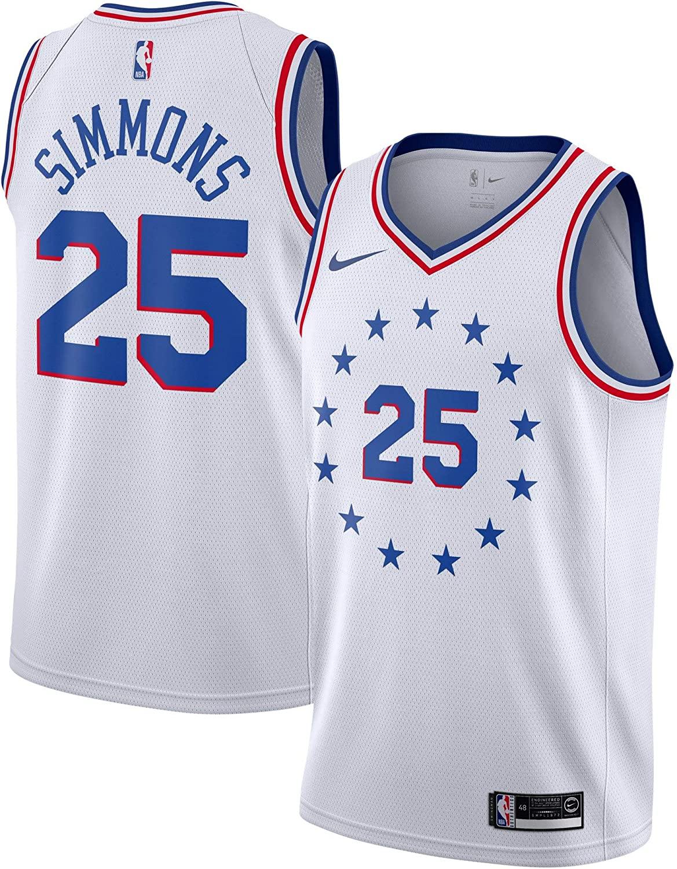 Ben Simmons Philadelphia 76ers White Swingman Earned Edition Jersey - Men's Medium
