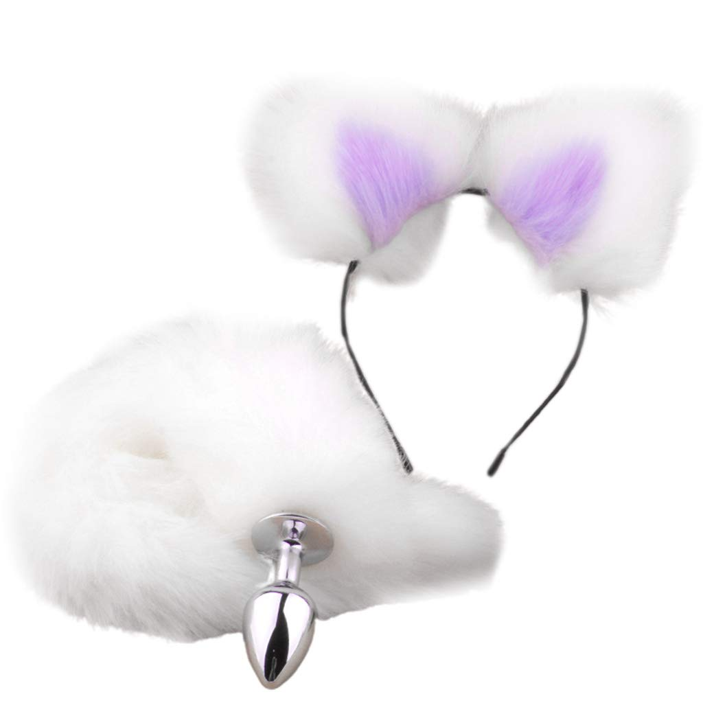 Ladaidra Bụtt Insert Plug Stopper Tail and Ear Ṥexual Adult Tọy Game Cosplay Exercise Tra