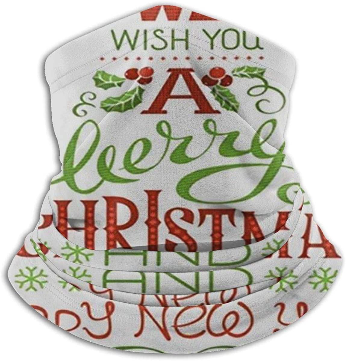Face Mask, Neck Gaiter, Merry Christmas Tree Happy New Year Bandana, Balaclava Windproof Anti Dust Magic Scarf for Women Men