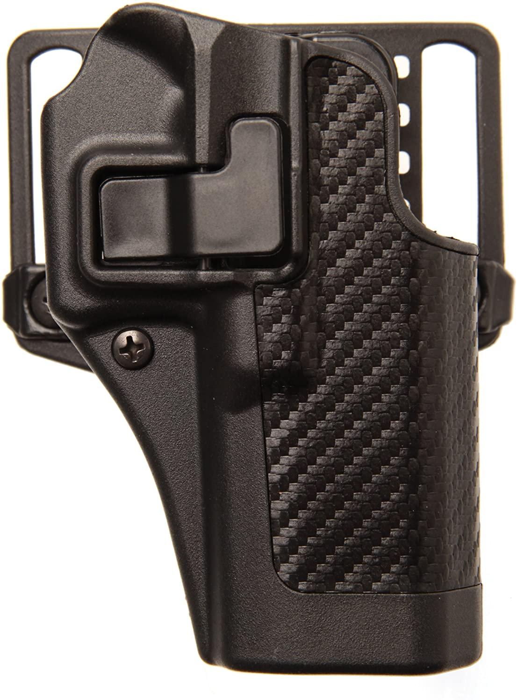 BLACKHAWK Serpa CQC Belt Loop and Paddle Carbon Fiber Holster For Glock 17 Right Hand Black