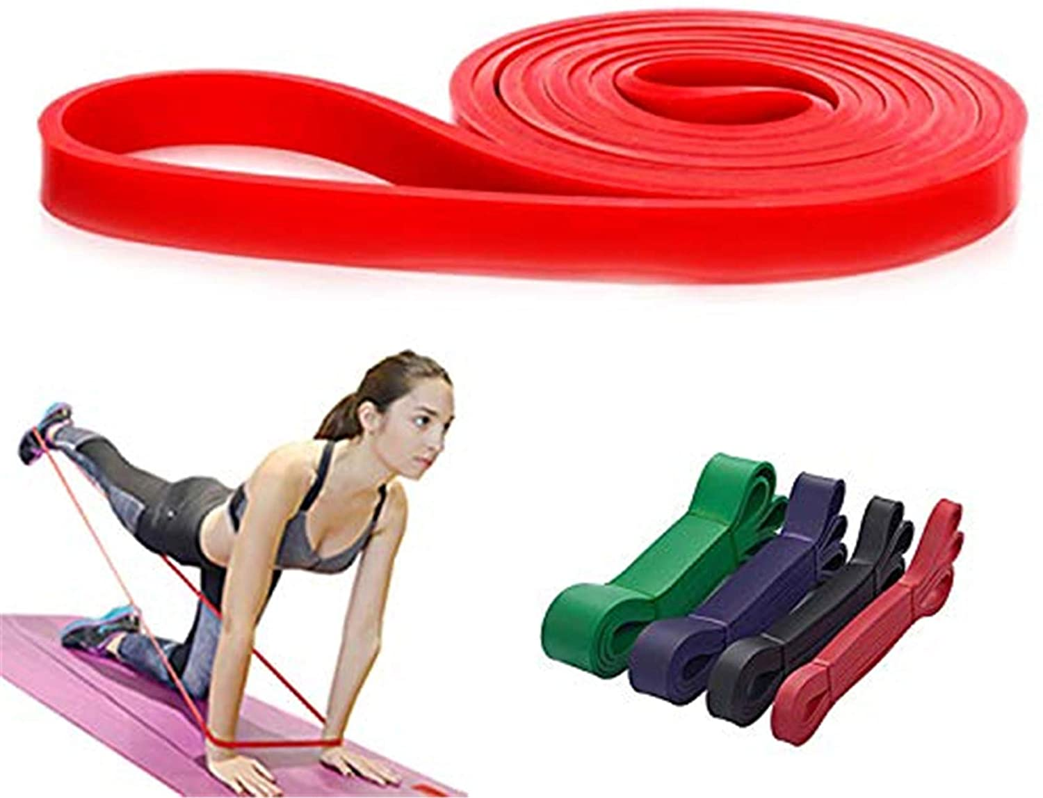 KISSBELLY Pull Up Resistance Bands Elastic Stretch Bands Heavy Duty Exercise Crossfit Assistance Band for Arm Legs Training Gyms Home Equipment
