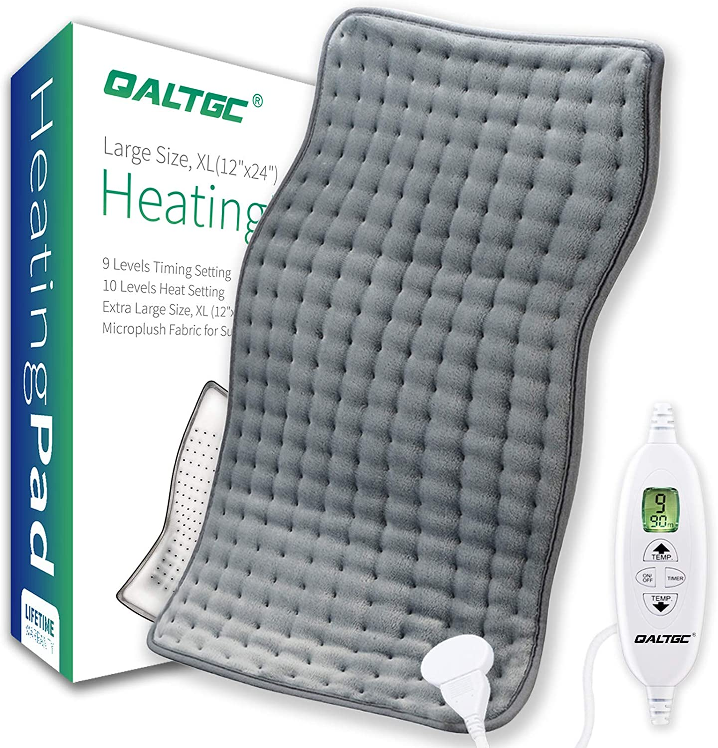 QALTGC Heating Pad for Back Pain and Cramp Relief 12
