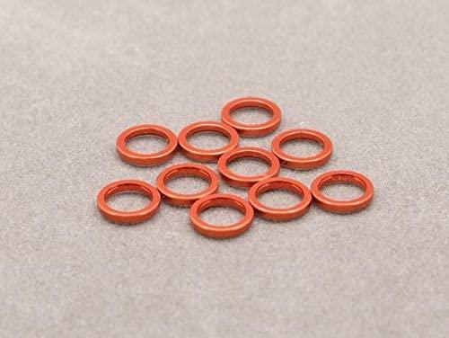 Integy RC Model Hop-ups OBM-AC-007-O 5mm x 1mm Aluminium Bore Washer (Orange 10 Pcs)