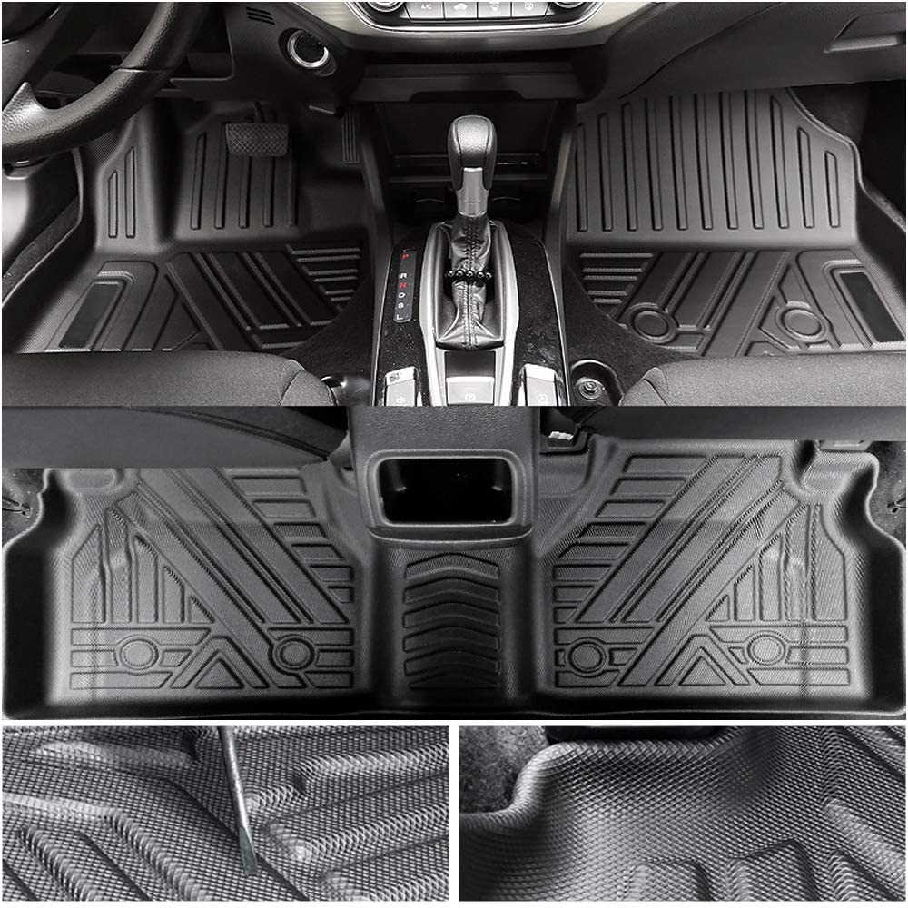 Muchkey TPE Floor Mat for Land Rover Range Rover Velar 2018-2020 No Odor Waterproof Wear-Resistant Corner Coverage TPE Rubber Environmental Protection Carpet