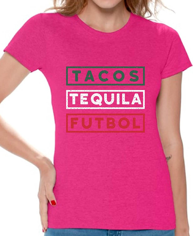 Awkward Styles Tacos Tequila Futbol Tshirt Mexico Tacos and Tequila Futbol Fans