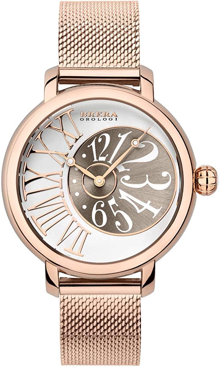 Brera Orologi Valentina Elegant Women's Wrist Watch | BRVAEL3802-RG-MIL - Rose Gold