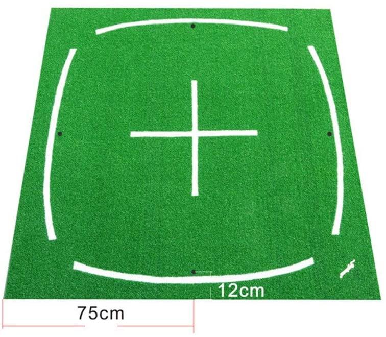 Rnwen Golf Greens Portable Golf 3D Mat Indoor Practice Golf Mat Foldable Hitting Grass Mat with NBR Bottom Golf Training Turf Mat Putting Mats (Color : Green, Size : 1.51.5m)