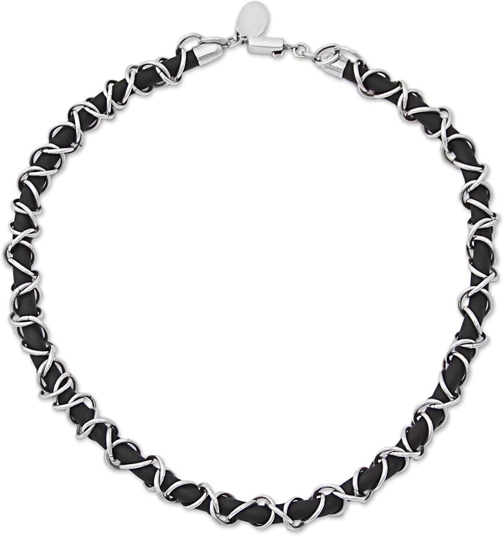 NOVICA .925 Sterling Silver Rubber Necklace, 20 Mexican Creeper