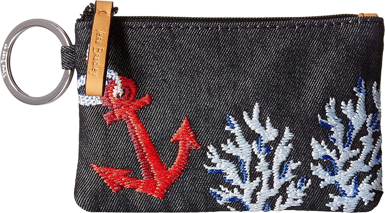 Vera Bradley Women's Iconic Zip ID Case Shore Thing 3 One Size