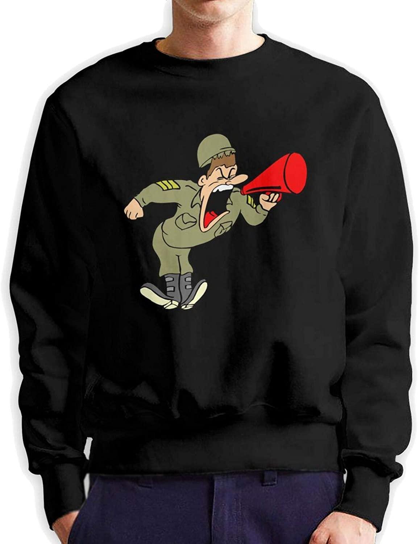 Army Drill Sergeant Men Hoodie Long Sleeve Hoodie Classic Sweatshirts Pullover Crew Neck