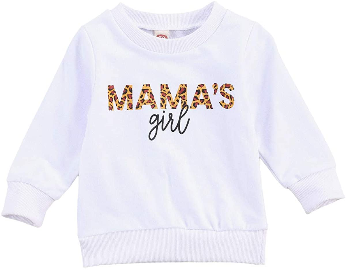 MiliMaDa Infant Toddler Baby Girl Long Sleeve Pullover Mamas Girl Sweatshirt Blouse Sweater