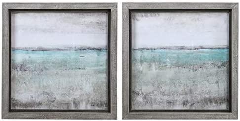 Uttermost Aqua Horizon Framed Print (Set of 2)