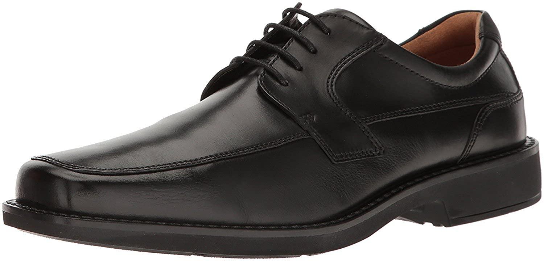 ECCO Men's Seattle Apron Toe Tie Oxford, Black, 46 EU/12-12.5 M US