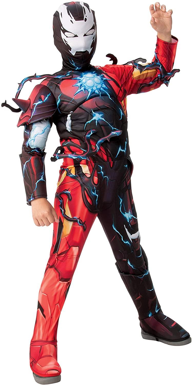 Rubies Boys Marvel Spider-Man Maximum Venom Deluxe Venomized Iron Man Costume, Medium