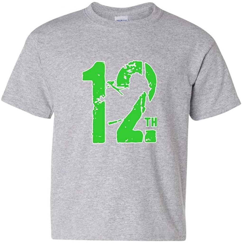 12th Man Fan Wear Seattle Football DT Youth Kids T-Shirt Tee