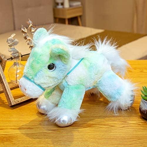 YUNZHI Plush Toys, 1pc 25cm Colorful Lovely Unicorn Plush Toys Stuffed Cute Dazzling Horse Plush Doll Rainbow Unicornio Kids Girls Animal Toys Gift 25cm