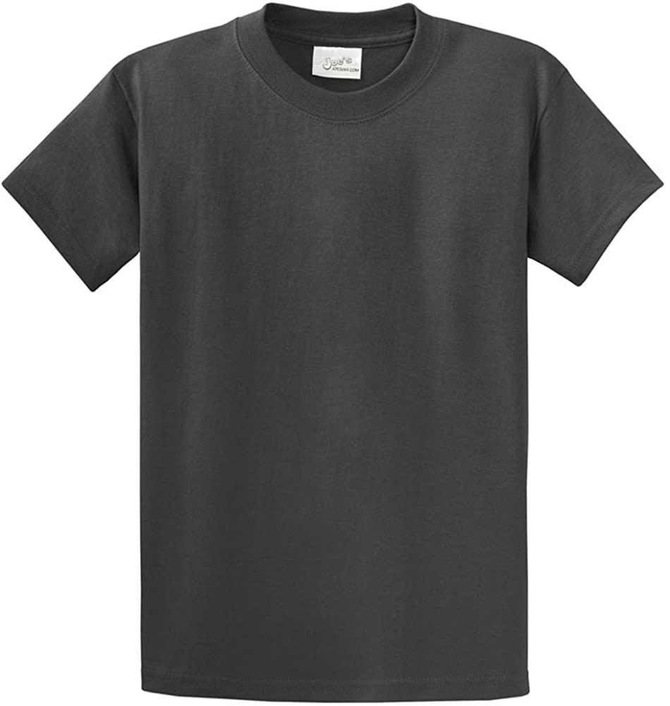 Joes USA Heavyweight 6.1-ounce, 100% cotton T-Shirts,XL-Charcoal
