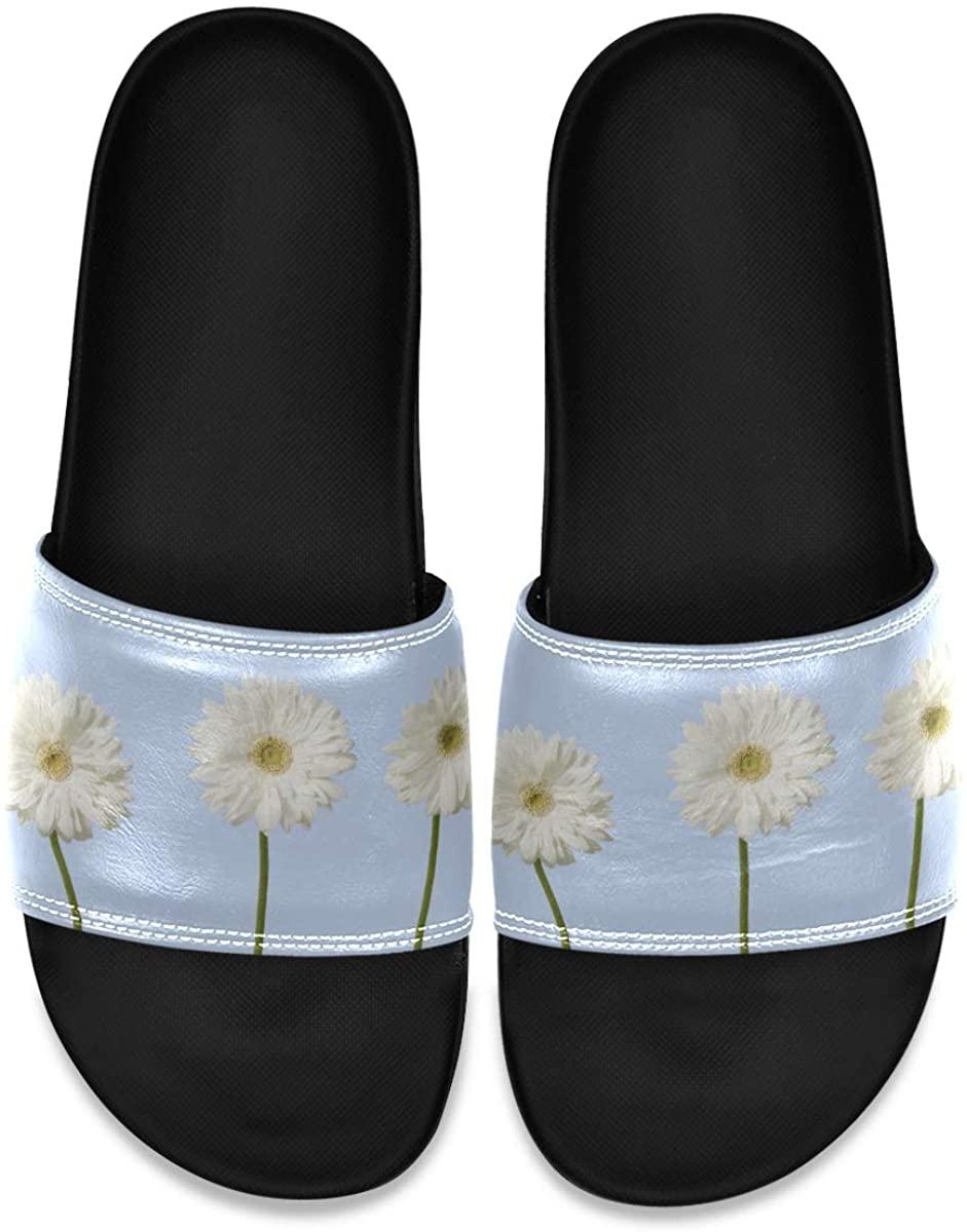 Roses with Green Leaves Watercolor Mens Indoor Outdoor Bedroom Slippers Adjustable Sandals