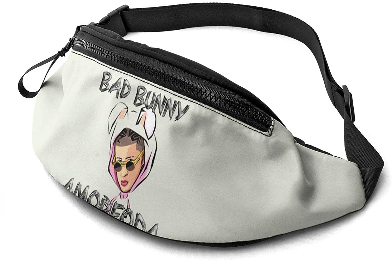 ATSH Bad Bunny Waist Bag Water Resistant Large Hiking Fanny Pack Running Walking Traveling