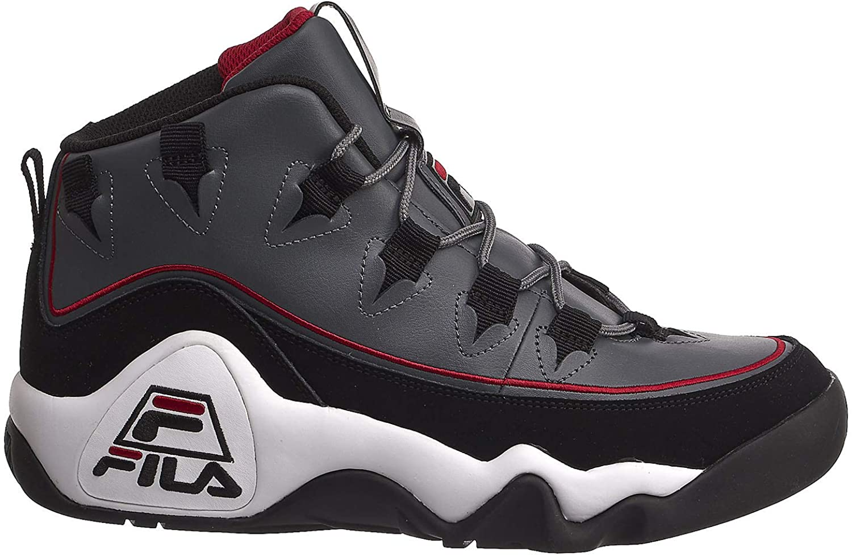 Fila Grand Hill 1 Offset Sneakers Mens, Castle Rock Black Red, 11.5
