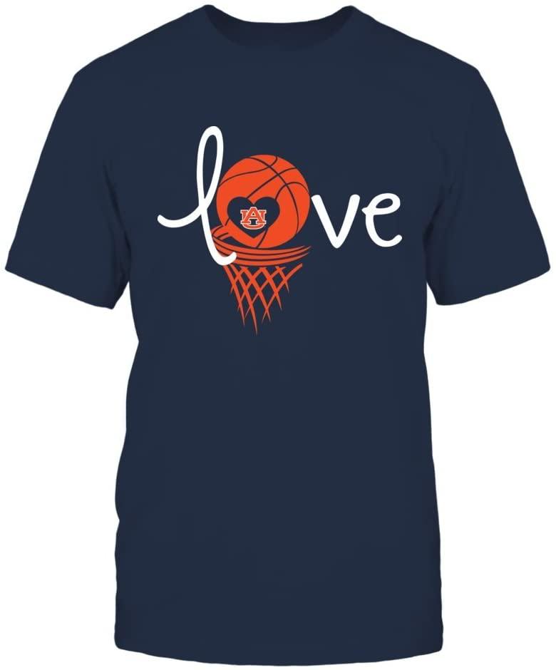 FanPrint Auburn Tigers T-Shirt - Love Auburn Basketball - Mens Tee/Navy/XL