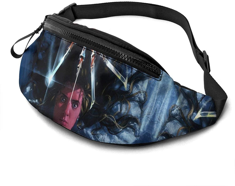ATSH A Nightmare On Elm Street Waist Bag Water Resistant Large Hiking Fanny Pack Running Walking Traveling