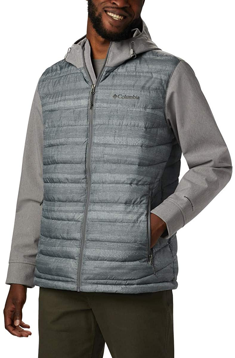 Columbia Men's Powder Lite Hybrid Hooded Winter Jacket, Water repellent