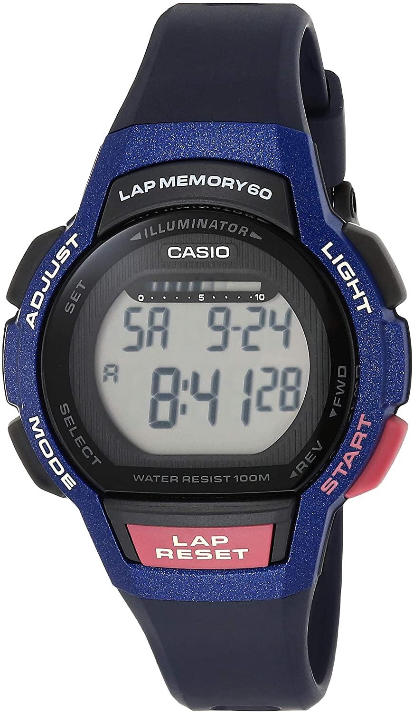 Casio Womens Runner Series Quartz Running Watch with Resin Strap, Purple, 19.3 (Model: LWS-1000H-2AVCF)