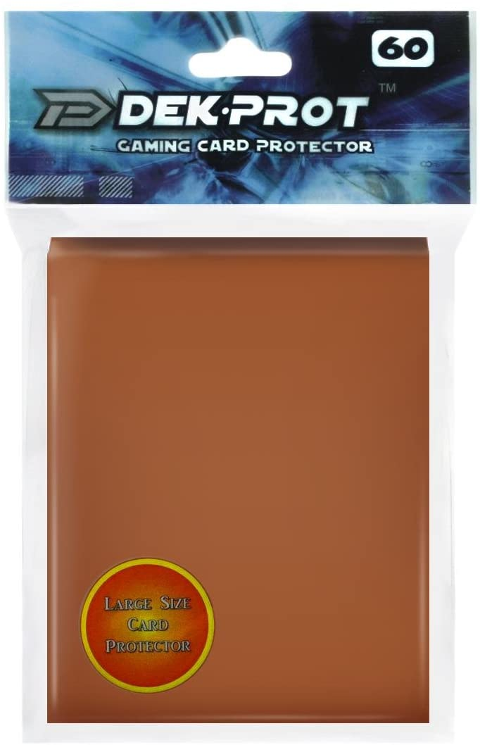 DEK PROT Magic+Pokemon Size Gaming Card Protectors-60 Sleeves- Mocha Brown