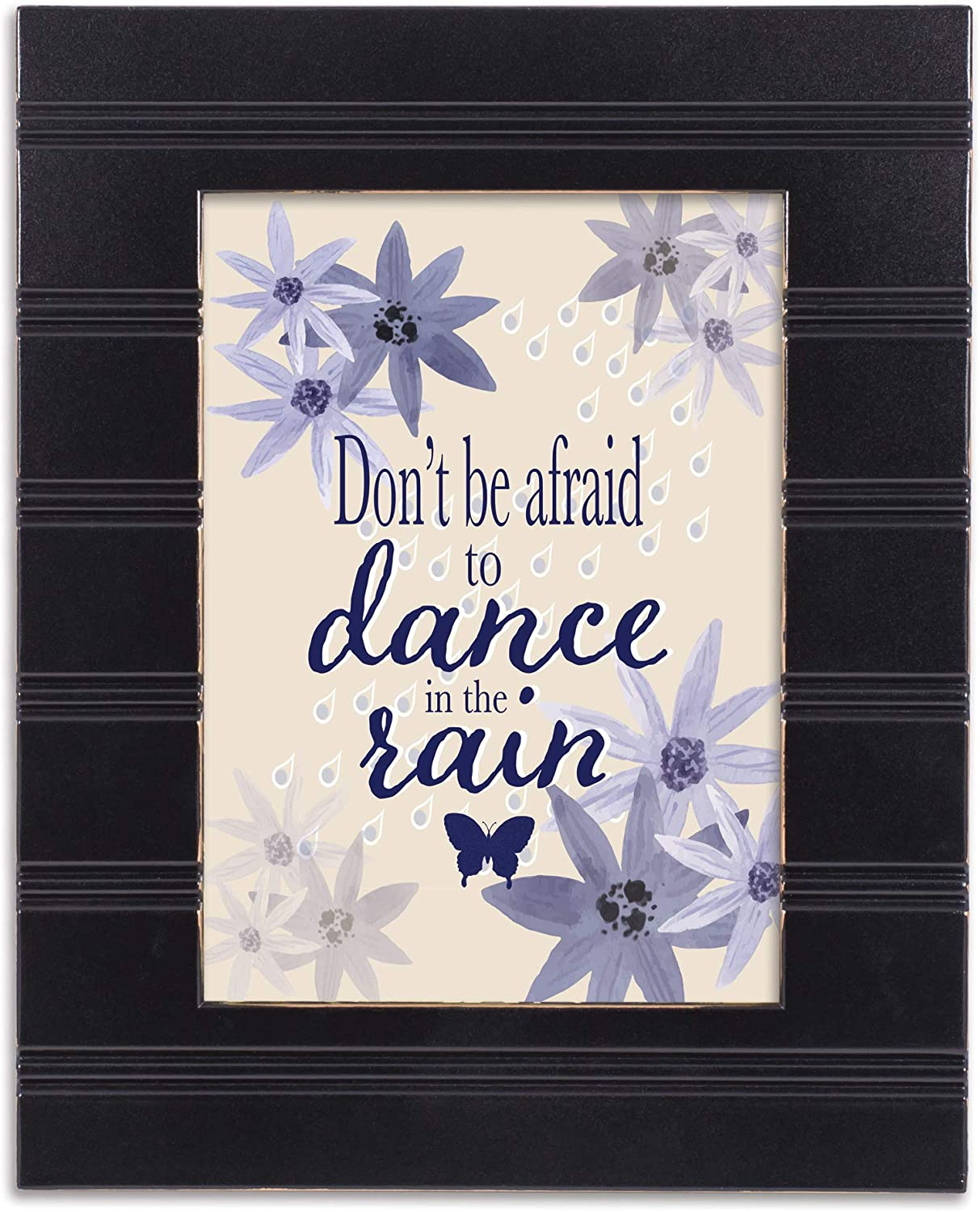 Cottage Garden Dance in The Rain Black Beaded Board 5 x 7 Table Top and Wall Photo Frame