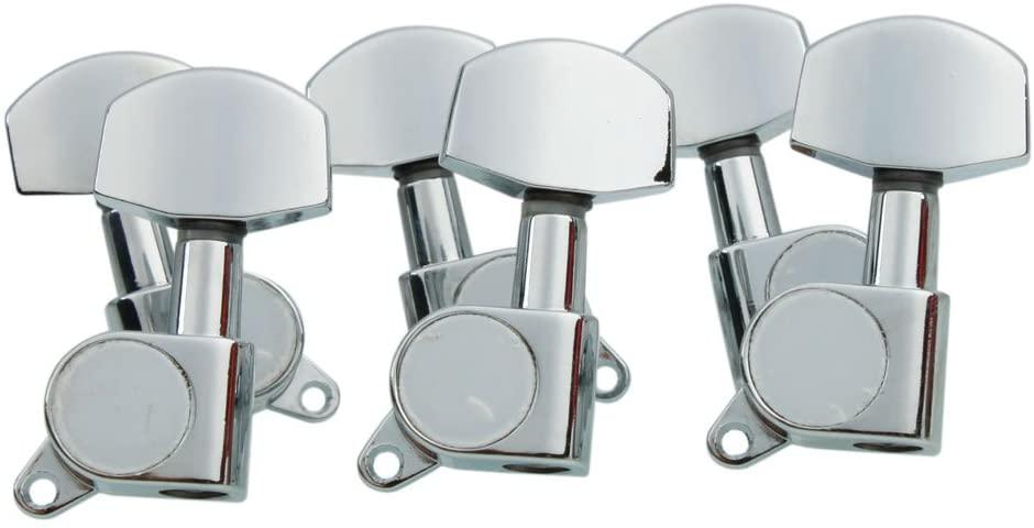 6pcs Chrome Guitar String Tuning Pegs Tuners Machine Heads