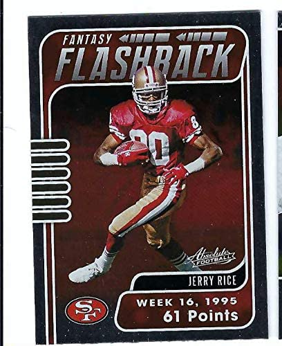 JERRY RICE 2020 Panini Absolute Fantasy Flashback #JR Card Football San Francisco 49ers