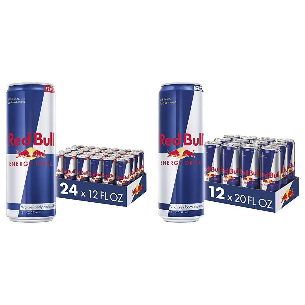 Red Bull Energy Drink 24 Pack 12 Fl Oz & Energy Drink, 20 Fl Oz (12 Count)