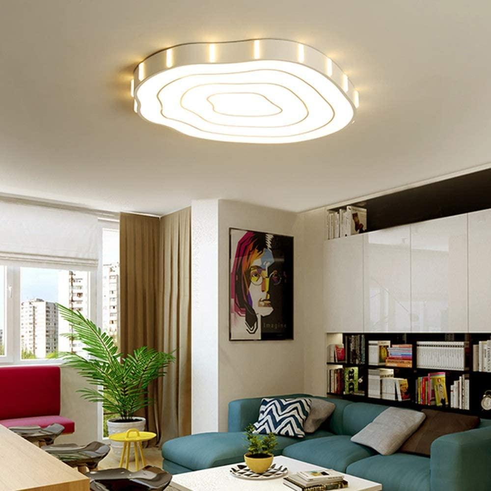 Foraging hamster Creative Fashion Living Room Bedroom Stump Shape LED Ceiling Lamp Stepless Dimming Modern Minimalist Home Restaurant Hotel Decorative Lights (Size : 52526cm)