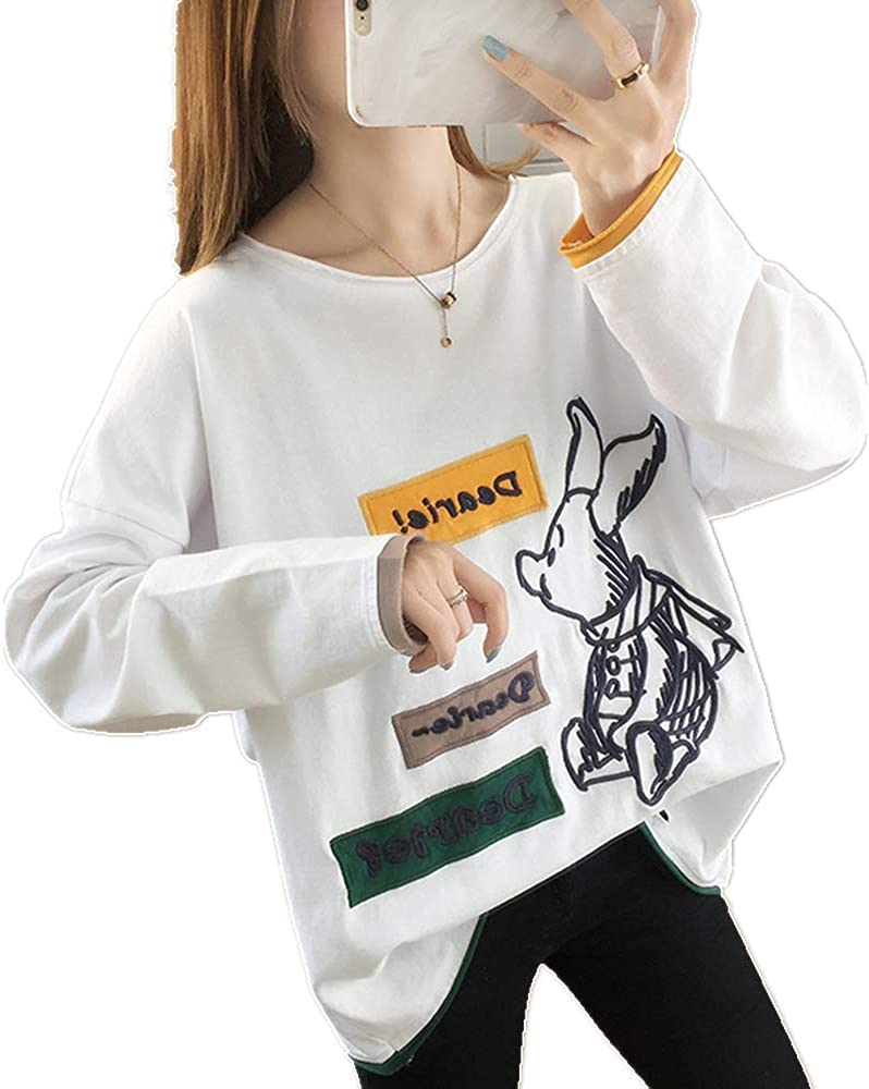 N\ A Thin Round Neck Sweater Loose Design bf Lazy Style Pullover Sweater