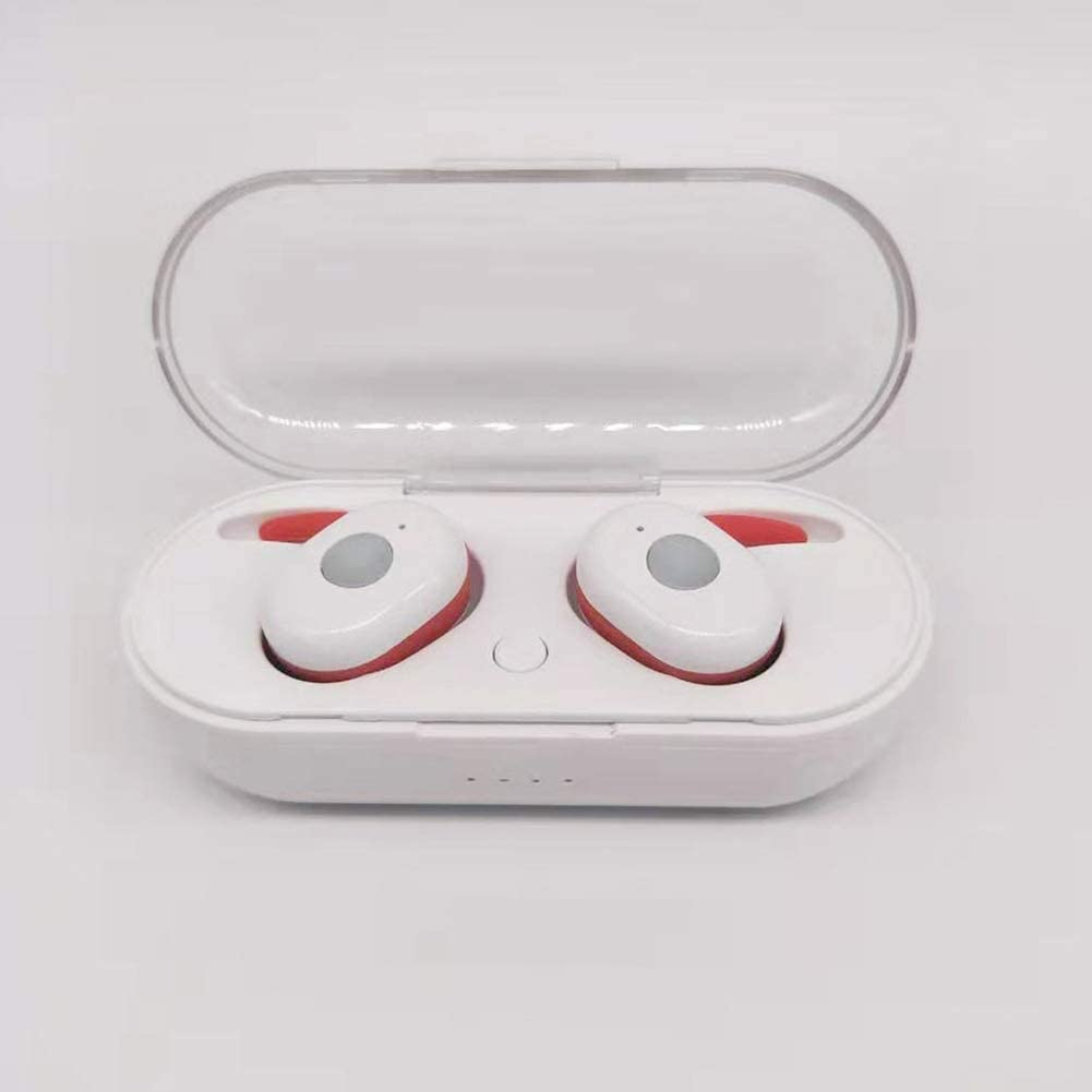 XRQ Wireless Headphones Bluetooth 5.0 Wireless Earbuds Charging Compartment Ear Phones Sports Headphone with Charging Box