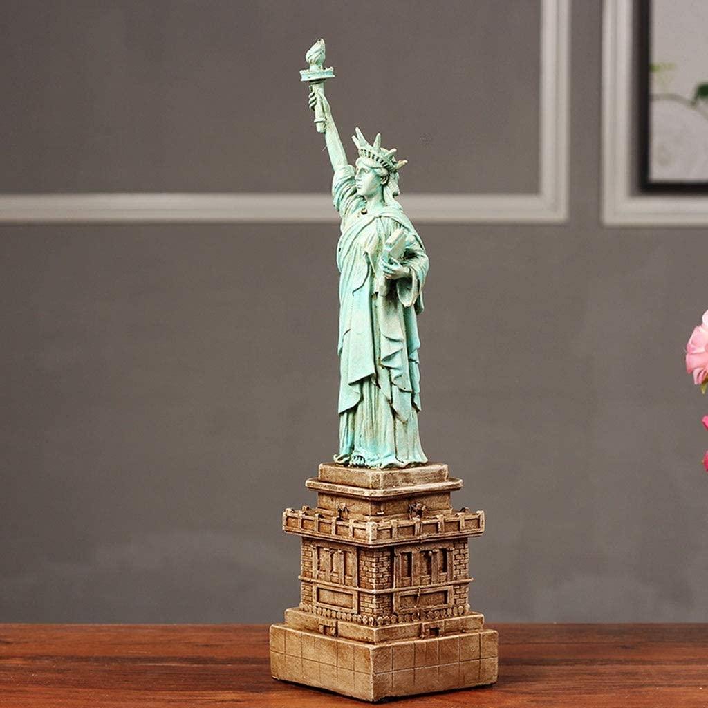 APAN Statue of Liberty Statue Home Decor Statue of Liberty Handmade Artware Model Decoration-h33cm