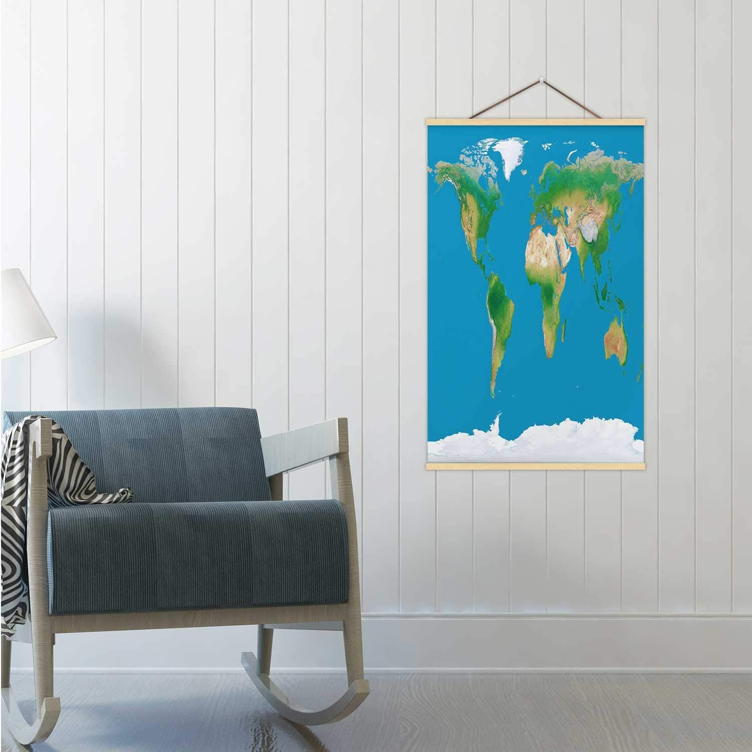 Hitecera World Topographic map Africa,16/19/24 Frams Arctic 16/19/24 Poster Frames 24x35in(WxH)