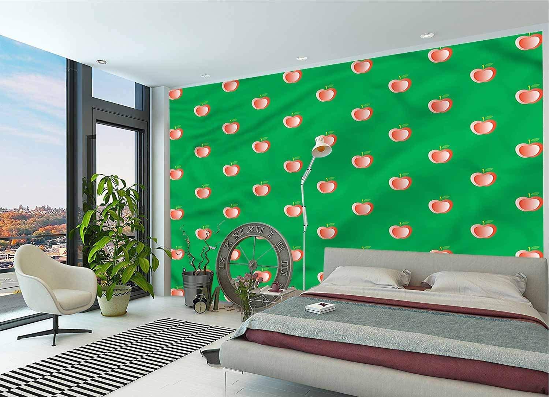 LCGGDB 3D Print Wallpaper Mural,Seasonal Healthy Fruit Peel & Stick Wallpaper for Office Nursery School Family Decor Playroom Birthday Gift -144x100 Inch