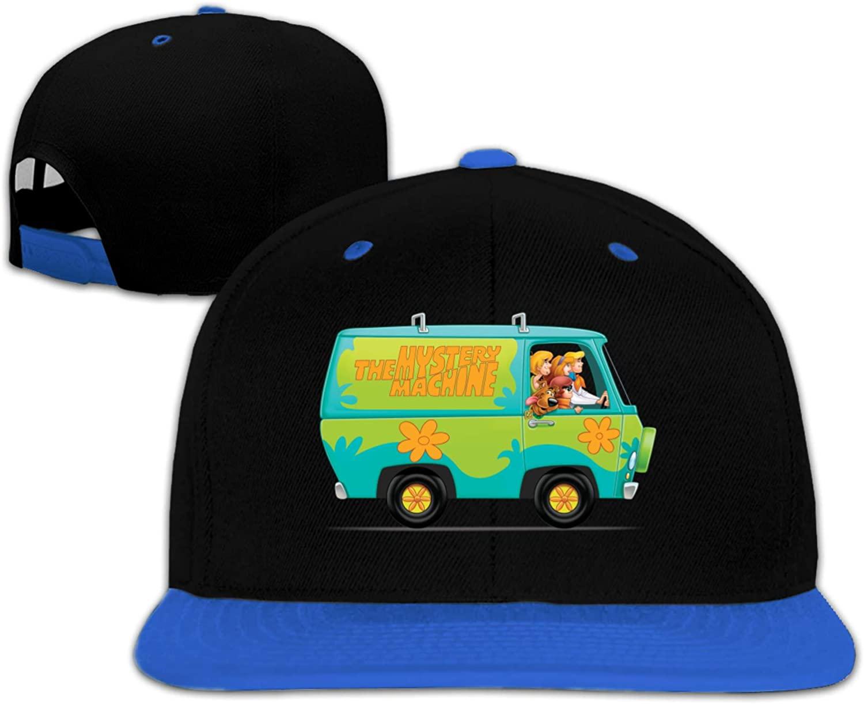 NYF Scooby Doo Baseball Cap for Boys Girls Trucker Caps Snapback Adjustable Kids Hip-Hop Cap Red