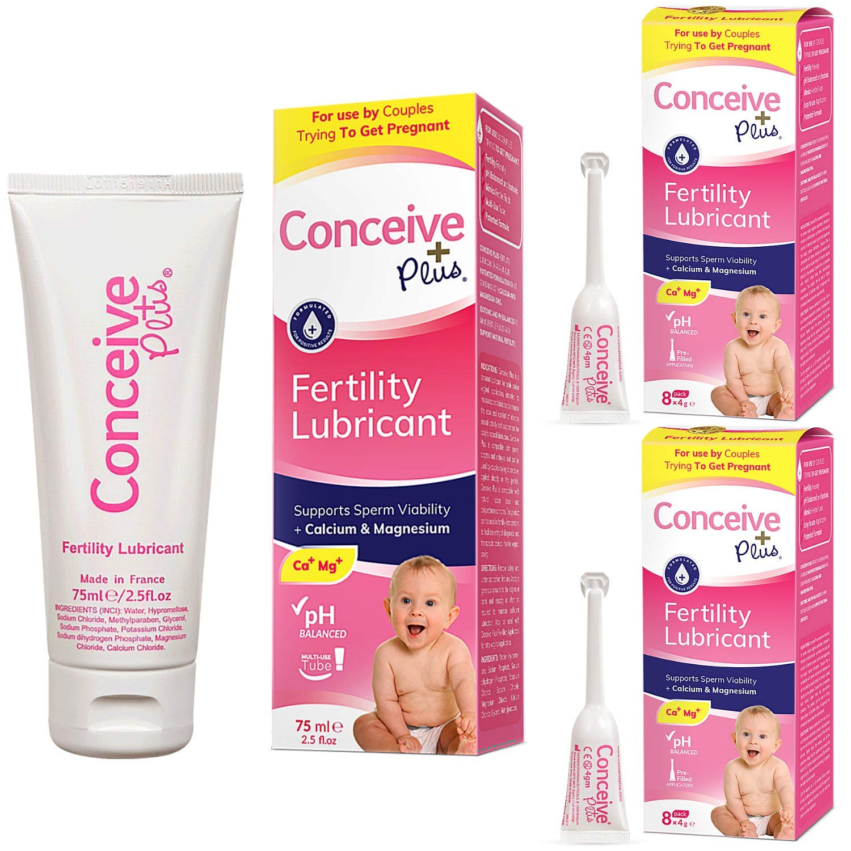 Conceive Plus Fertility Lubricant Couples Bundle, 2.5oz and 16 Pre-Filled Lubricant Applicators…