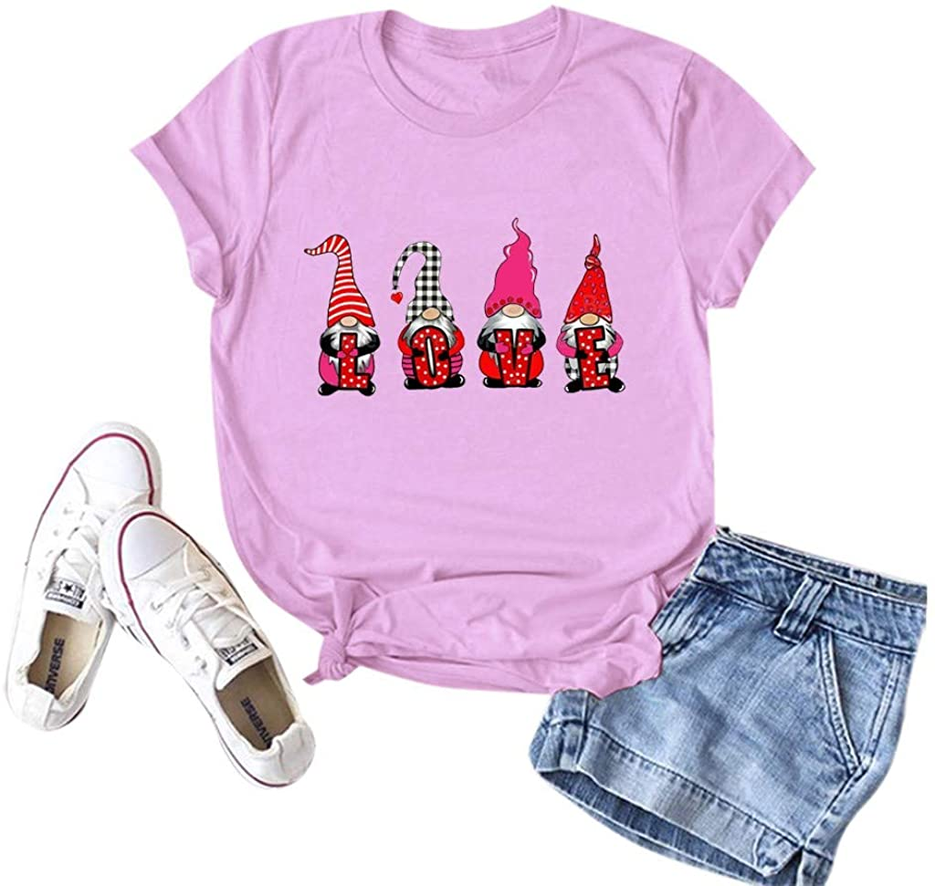 Valentines Day Shirt, Womens Graphic Printed Pullover Casual Tees T-Shirt