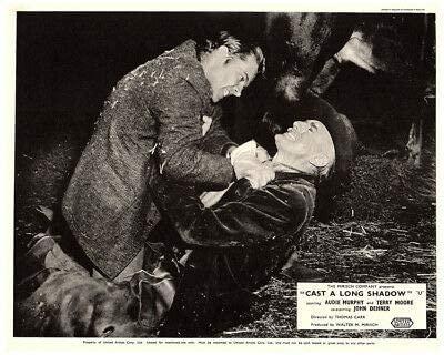 Cast A Long Shadow Original Lobby Card Audie Murphy Fights John Dehner